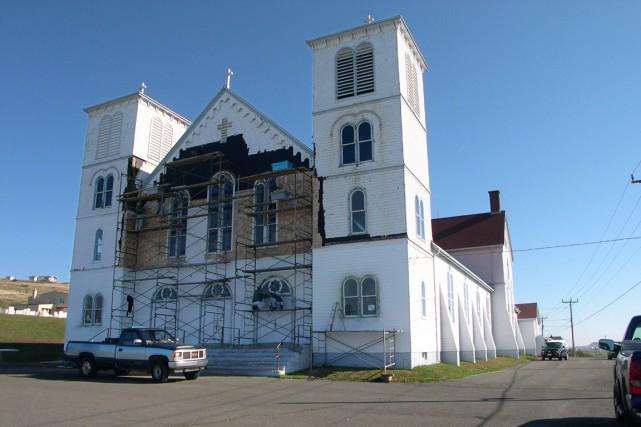 L'église de Bassin aux Îles-de-la-Madeleine... (Conseil du patrimoine religieux du Québec)