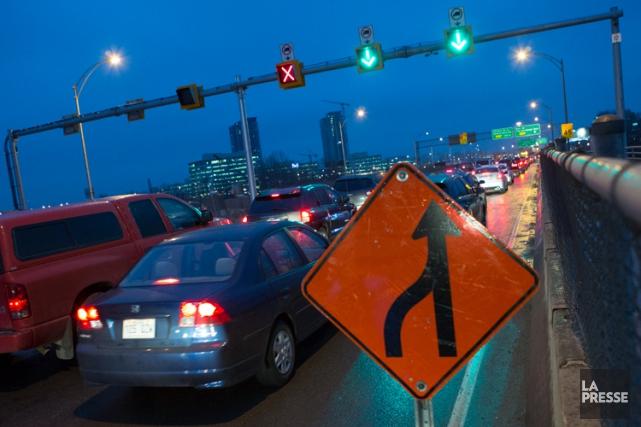Les automobilistes qui emprunteront le pont Champlain entre minuit et 3h, dans... (Photo: Edouard Plante-Fréchette, La Presse)