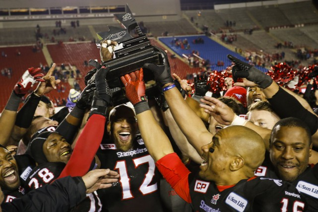 Les Stampeders affronteront les Tiger-Cats de Hamilton en... (Photo Jeff McIntosh, PC)