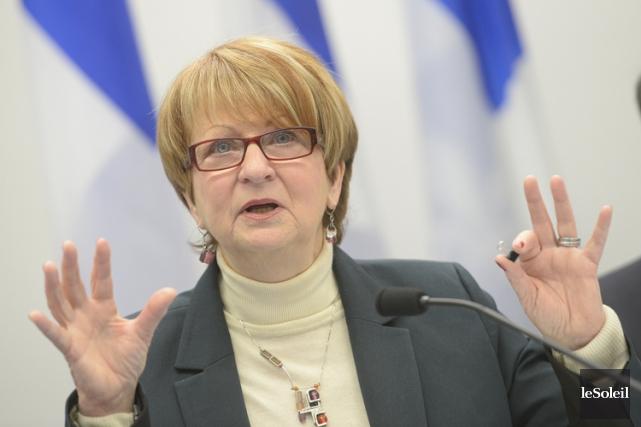 L'ex-ministre libérale Lucienne Robillard estime que le redressement... (PHOTO JEAN-MARIE VILLENEUVE, LE SOLEIL)