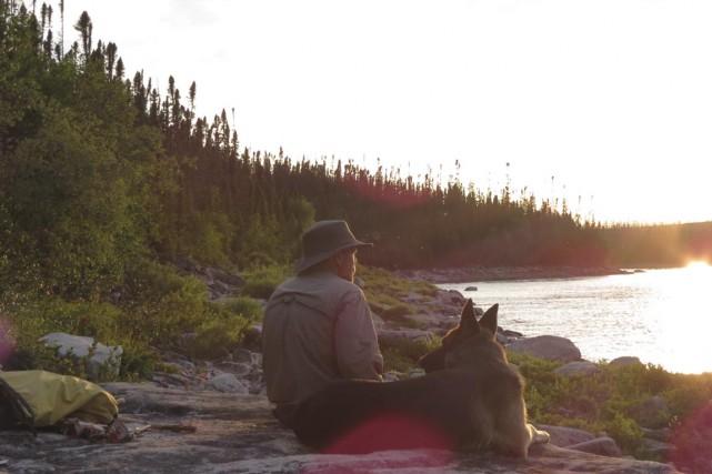 Partout où allait Marco Lavoie, son chien Rocky... (PHOTO FOURNIE PAR MARIO LAVOIE)