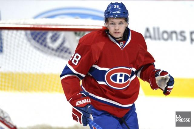 L'espoir du Canadien de Montréal Nikita Scherbak n'aurait pas subi de blessure... (PHOTO BERNARD BRAULT, ARCHIVES LA PRESSE)