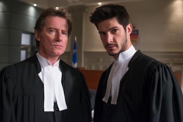 Marc Messier et Éric Bruneau dans Toute la... (Photo: fournie par TVA)