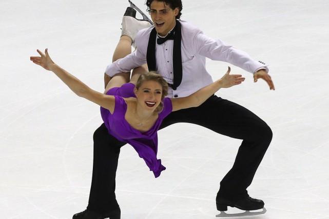 Le Franco-Ontarien Paul Poirier et sa partenaire Piper... (Agence France-Presse)