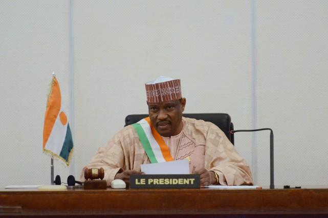 L'ancien président du Parlement, Hama Amadou (ci-dessus), a... (Photo ISSOUF SANOGO, Archives AFP)