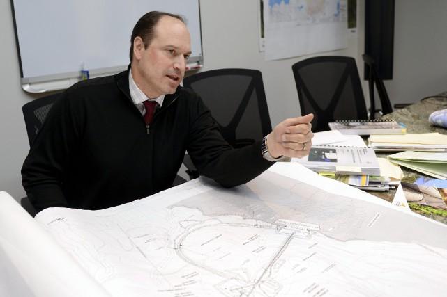 Le chef de l'exploitation de la minière, Jean-Sébastien... ((Photo Jeannot Lévesque))