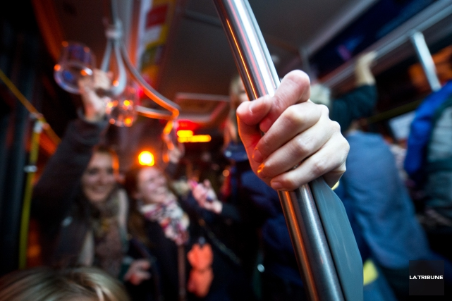 Le projet-pilote d'autobus spécial pour les étudiants, mené par l'Université de... (Archives La Tribune, Julien Chamberland)