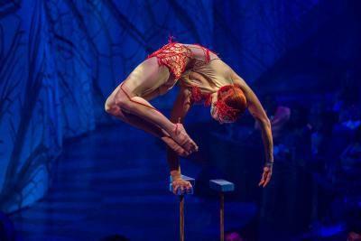 Quelques numéros sont interprétés assez près des spectateurs,... (Photo: fournie par le Cirque du Soleil)
