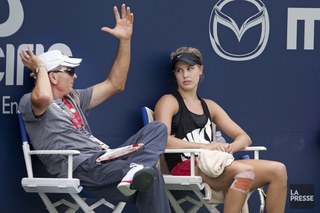 L'entraîneur Nick Saviano et Eugenie Bouchard ont mis... (Photo Robert Skinner, archives La Presse)