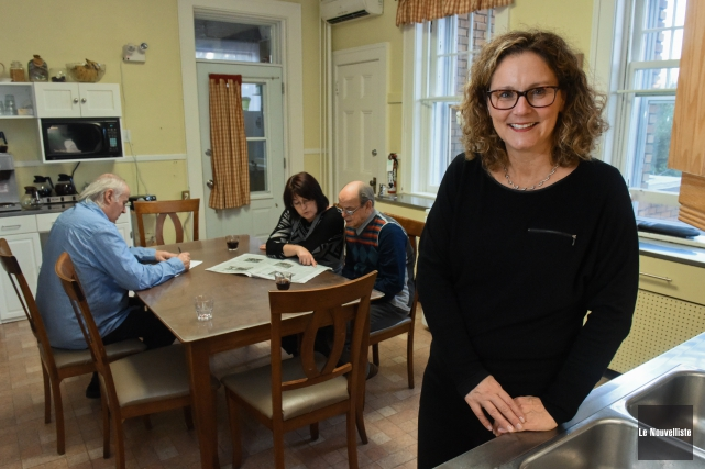 Nicole Poirier dans la cuisine de Carpe Diem,... (Photo: François Gervais Le Nouvelliste)