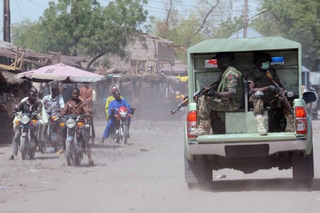 Fin2014, lemarché de Maiduguriavait déjà essuyé deux attaques... (PHOTO PIUS UTOMI EKPEI, ARCHIVES AFP)