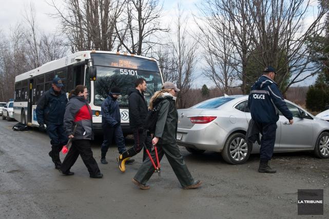 Le Service de police de Sherbrooke a eu droit à l'aide d'une équipe du... (Imacom, Jessica Garneau)
