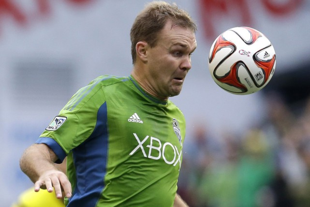 Chad Marshall, des Sounders de Seattle.... (Photo Ted S. Warren, AP)