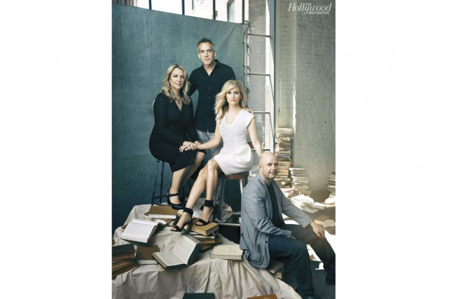 Cheryl Strayed, Jean-Marc Vallée, Reese Whiterspoon et Nick... (Photo: fournie par le Hollywood Reporter)