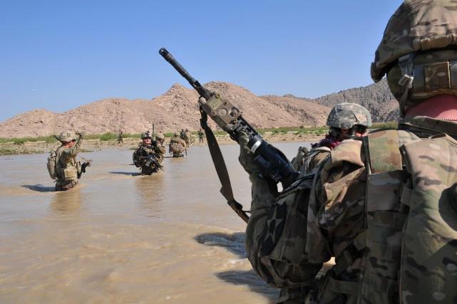 Une femme militaire américaine tuée lundi en Afghanistan symbolisait... (Photo archives AP)
