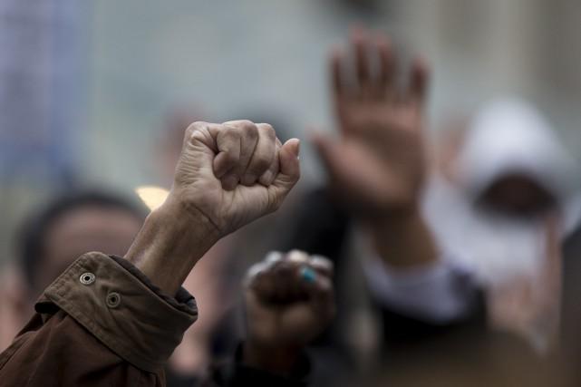Les rassemblements de Toronto et d'Ottawa ont été... (Associated Press)
