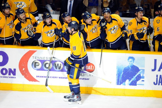 James Neal a marqué le seul but de la fusillade alors que les Predators de... (Photo: AP)