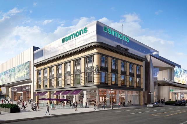 Le magasin d'Ottawa, qui ouvrira en août 2016,... (Image fournie par Simons)