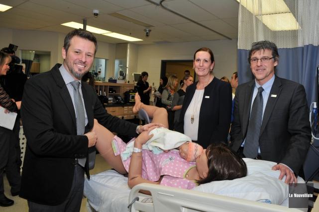 On présentait mardi le nouveau simulateur maternel-foetal du... (Photo: Émilie O'Connor Le Nouvelliste)