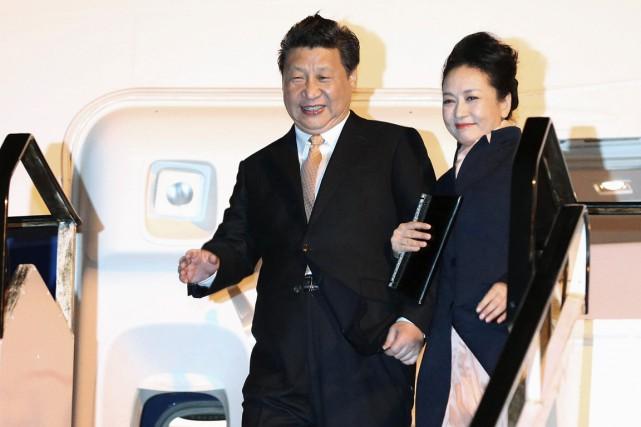 Le président chinois Xi Jinping et son épouse... (PHOTO FIONA GOODALL, ARCHIVES REUTERS)
