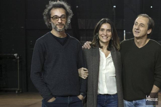 Le réalisateur français Raphaël Nadjari tourne un film... (Photo: Robert Skinner, La Presse)