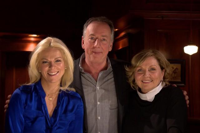 Isabelle Maréchal, Benoît Dutrizac et France Castel aux... (Photo: fournie par Télé-Québec)