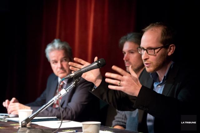 Le maire de Sherbrooke,BernardSévignyétait accompagné deGédéon Verreault, animateur... (Imacom, René Marquis)