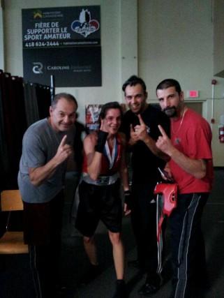 La boxeuseAnne Marcottea remporté le bronze aux Gants... (Photo fournie)
