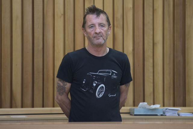 Phil Rudd, batteur d'AC/DC, lors de son passage... (Photo: archives AFP)