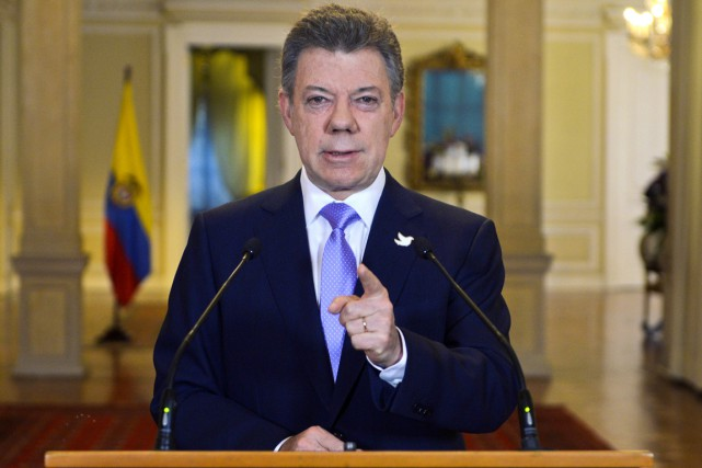 Le président colombien Juan Manuel Santos.... (PHOTO ARCHIVES AFP)