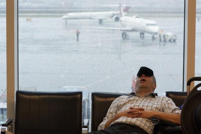 En début de soirée, 671 vols avaient été... (Photo: The New York Times)