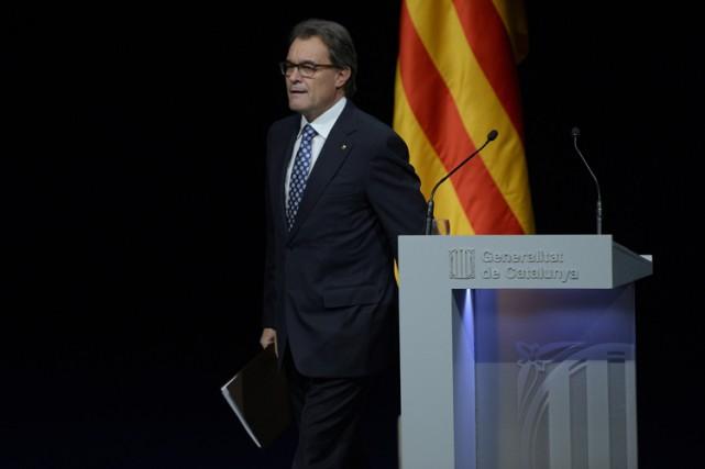 Pour ces élections anticipées, Artur Mas souhaite présenter... (Photo: AFP)