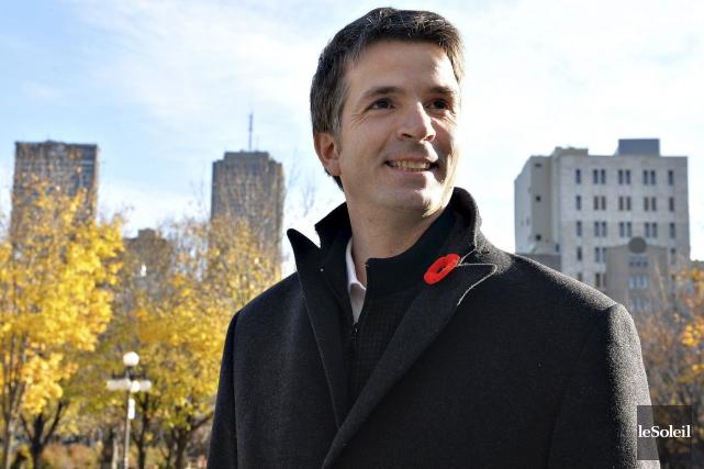 Le chef de Forces et démocratieJean-François Fortin.... (Photo Patrice Laroche, Archives Le Soleil)