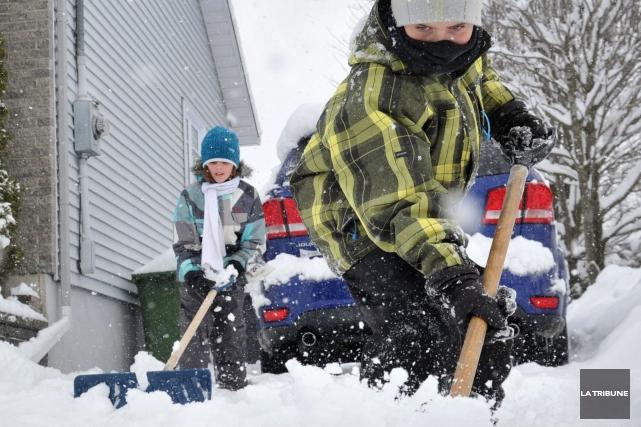 La région estrienne pourrait recevoir une bonne couche de neige au cours des... (Archives La Tribune)