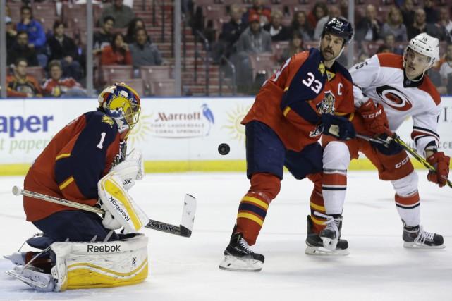 Les Panthers menaient 1-0 après 40 minutes de... (Photo AP)