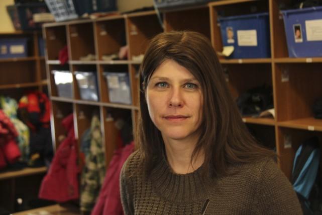 La directrice du CPE Rayons de soleil, Josée... (photo Janick Marois)