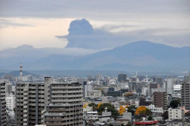 Situé dans la préfecture de Kumamoto, sur l'île... (PHOTO JAPAN METEOROLOGICAL AGENCY, AFP)