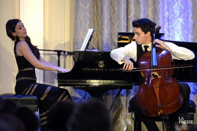 Le violoncelliste Stéphane Tétreault et la pianiste Marie-Ève... (Photo: Bernard Brault, La Presse)