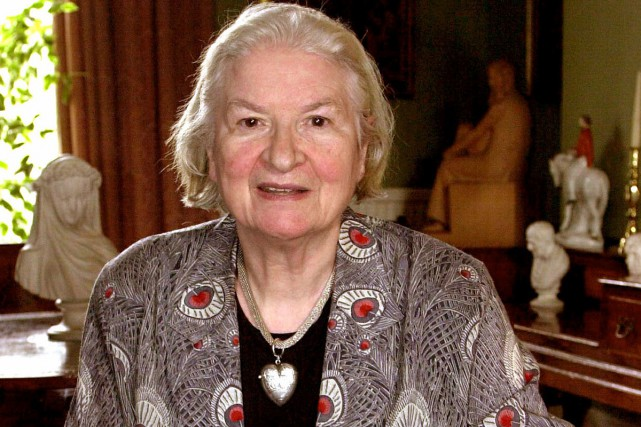 P.D. James à sa demeure de Londres en... (Archives AFP)