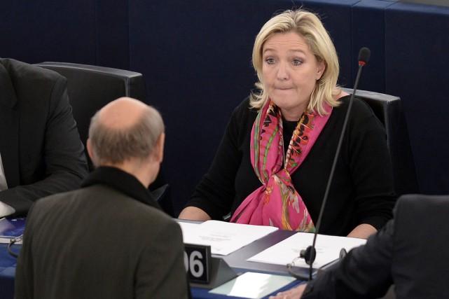 La présidente du FN, Marine Le Pen, a... (PHOTO FREDERICK FLORIN, AFP)