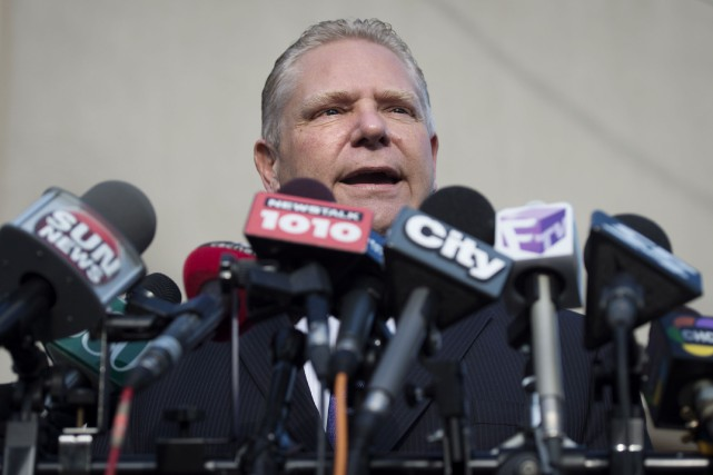 Doug Ford... (Photo Darren Calabrese, La Presse Canadienne)