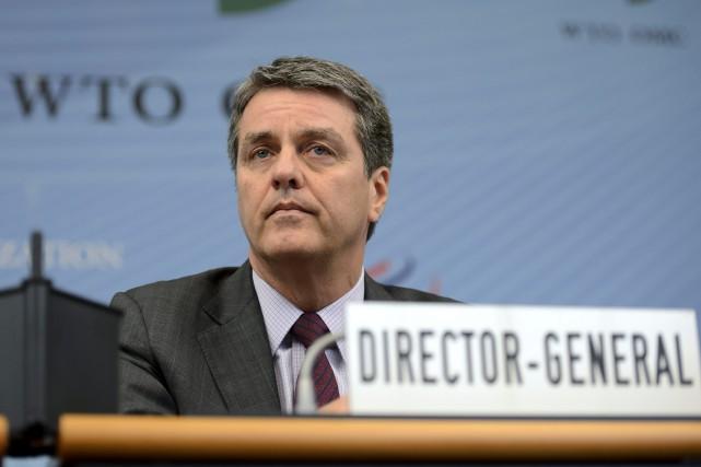 Roberto Azevedo, directeur général de l'OMC.... (Photo AP)