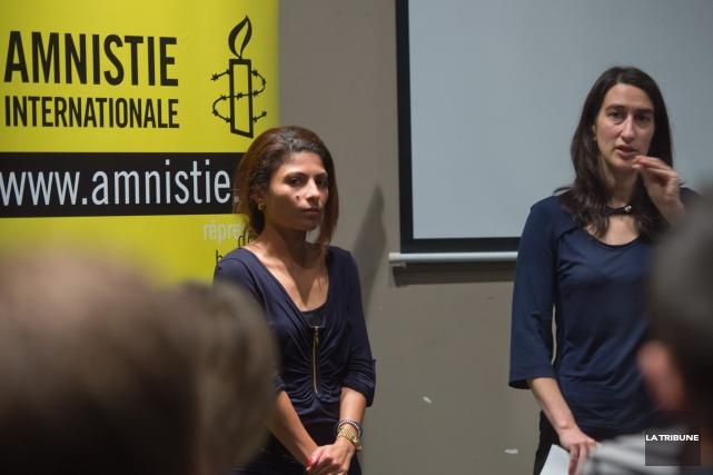La conjointe de Raif Badawi, Ensaf Haidar et... (Imacom, Julien Chamberland)