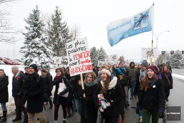 Les manifestations n'ont pas fini de se multiplier si le gouvernement continue... (Imacom, René Marquis)