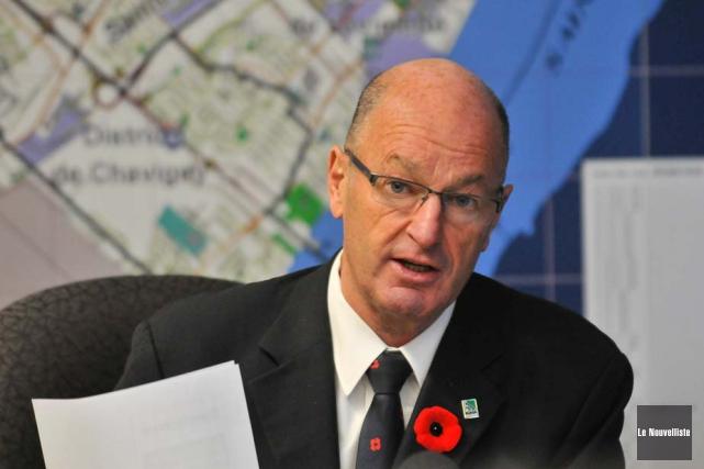 Le maire de Trois-Rivières Yves Lévesque.... (Photo: Émilie O'Connor, Le Nouvelliste)