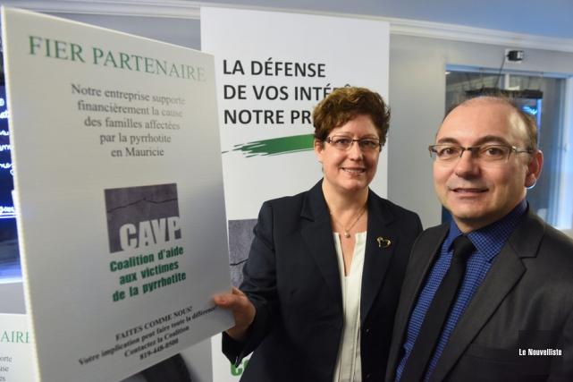Sylvie Lafrenière, responsable de la campagne de financement... (Photo: François Gervais, Le Nouvelliste)