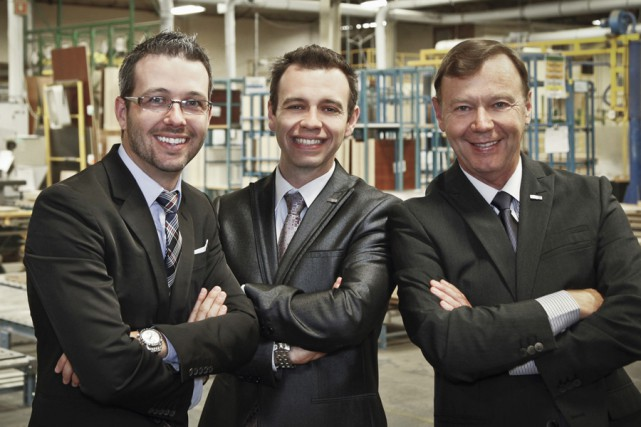 Francis (à gauche), Martin (au centre) et Daniel... (PHOTO FOURNIE PAR ARTOPEX)