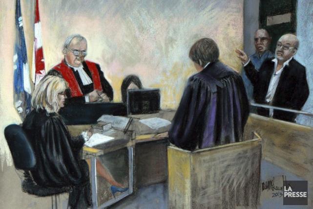 Richard Henry Bain (à droite)... (Image Archives La Presse)