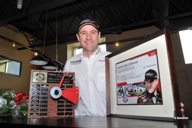 Louis-Philippe Dumoulin est le premier pilote à remporter... (Photo: Émilie O'Connor, Le Nouvelliste)
