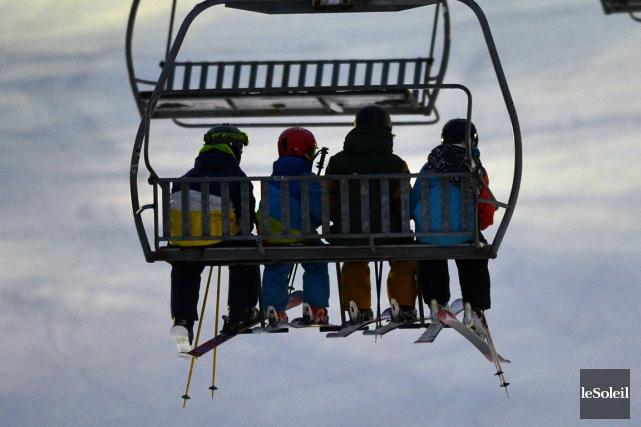Au Mont-Saint-Anne, une dizaine de pistes sont ouvertes... (Photo Yannick Doublet, Le Soleil)
